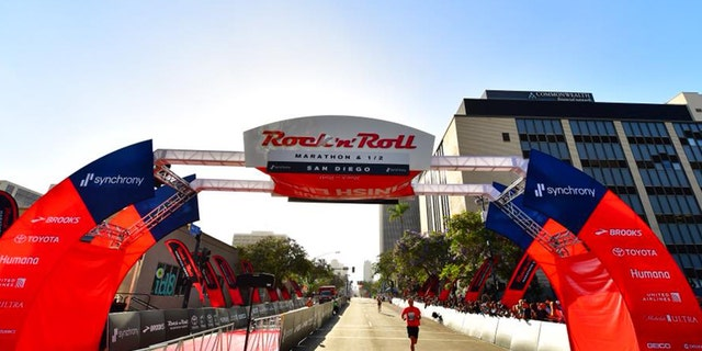 San Diego police said Sunday the 2018 Rock 'n' Roll Marathon was halted for about 10 minutes as police investigated reports of an active shooter in the area.