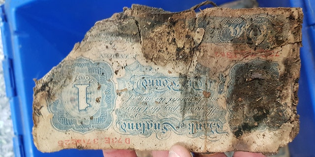 Eric Bradley signed up on September 3 1939, when war on Germany was declared. One million pounds in old money was uncovered under the site of his old shop in Brighton. It's thought he buried it as a war chest before joining the RAF.