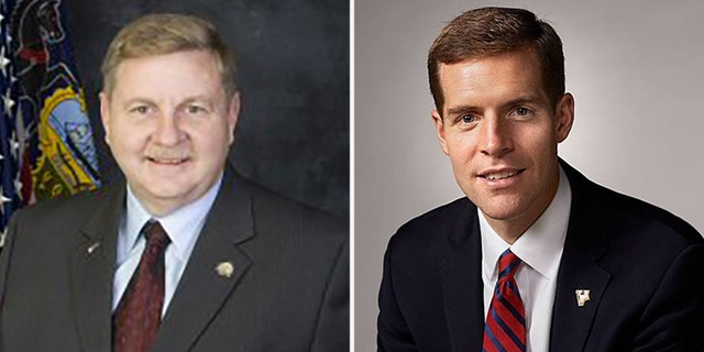 Rick Saccone, left, is challenging Conor Lamb for the congressional seat.
