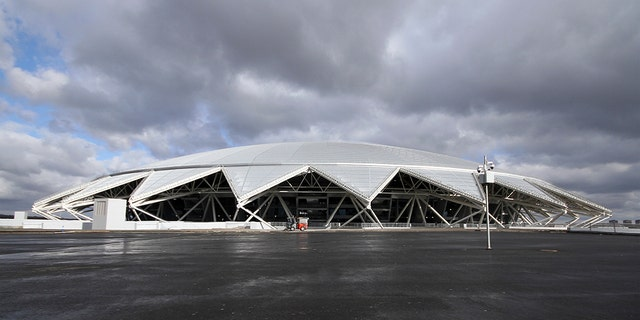 Samara Arena features a glass dome evoking the city's history as a center of the Russian space program.