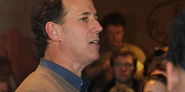 FILE -- Republican presidential candidate Rick Santorum