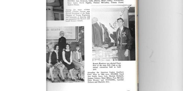 Ronnie Harrison (bottom right) featured in a high school yearbook.