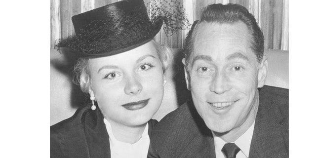 Barbara Payton and Franchot Tone.