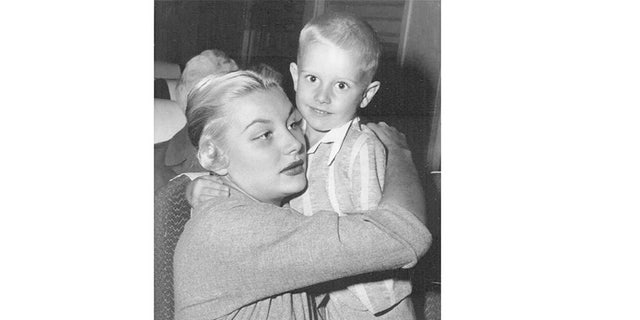 Barbara Payton with her only son.