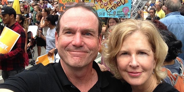 Scott Wallace, shown with his wife, Christy, is running for Congress in Pennsylvania.