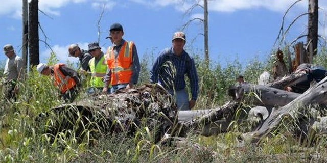 Aug. 8: Crews conduct a line search in northern Arizona.
