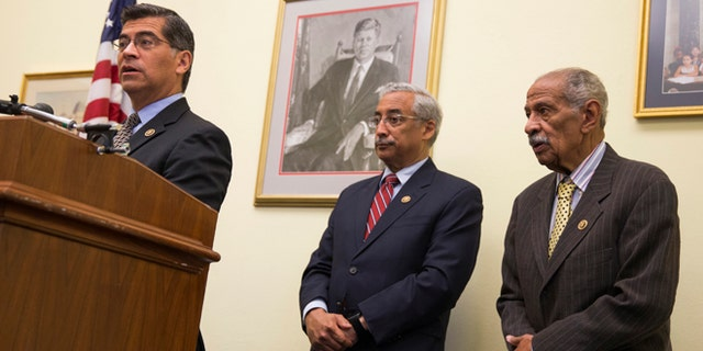 Rep. Bobby Scott, D-Va., (Center), with Rep. John Conyers, D-Mich., (Right).