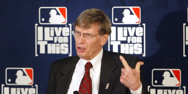 MLB Commissioner Bud Selig at a news conference on May 20, 2004, in New York.
