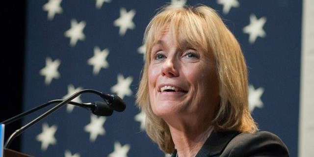 The intern works for Sen. Maggie Hassan, pictured here.