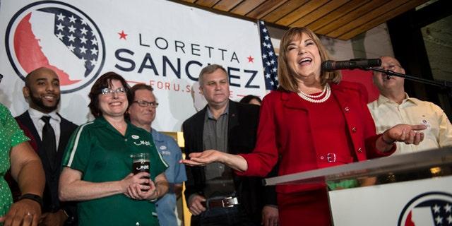 U.S. Congresswoman Loretta Sanchez at Anaheim Brewery in Anaheim, Calif., on Tuesday, June 7, 2016.