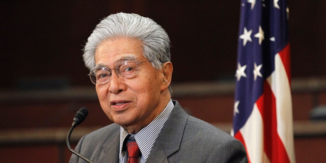 In this Feb. 16 file photo, Sen. Daniel Akaka, D-Hawaii speaking during a news conference on Capitol Hill. Akaka says he won't run for re-election next year.
