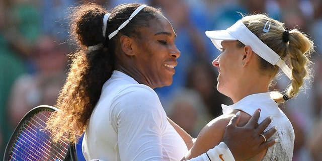 Angelique Kerber won her first Wimbledon championship by stopping Serena Williams' bid for a record-equaling 24th Grand Slam title.