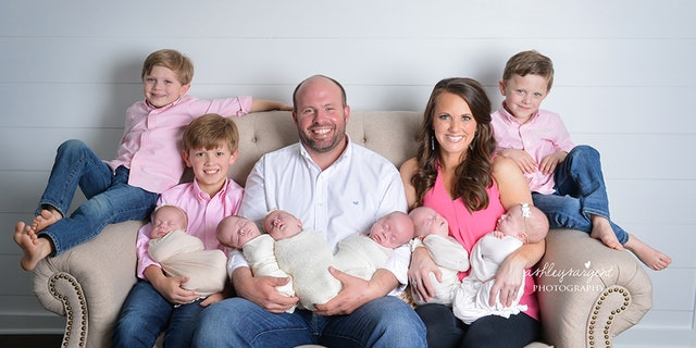 The Waldrops, who already have twins, add sextuplets to their family.