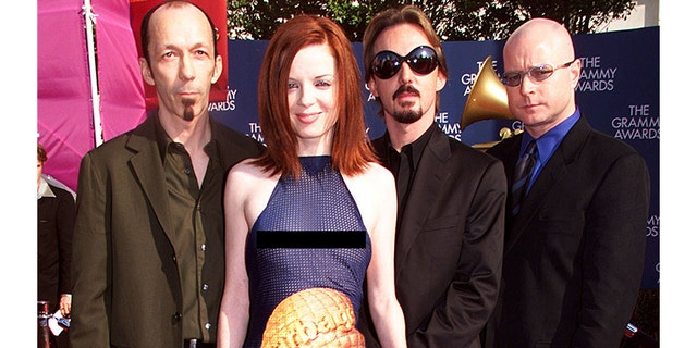 Garbage stirred headlines when they arrived at the 1999 Grammys.