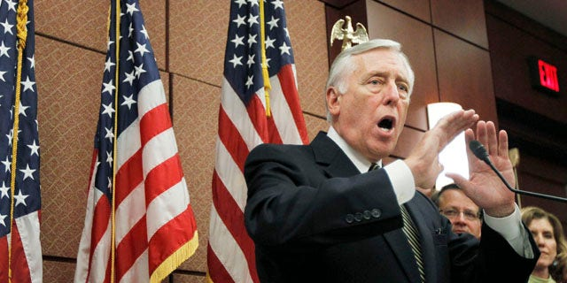 Sept. 23, 2010: House Majority Leader Steny Hoyer of Md., gestures during a news conference,on Capitol Hill, in support of the small business lending to struggling small businesses with easier credit and other incentives to expand and hire new workers.
