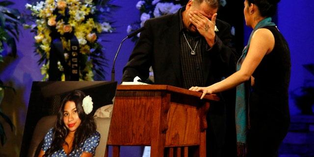 Reynaldo Gonzalez breaks down while remembering his dead daughter on Dec. 4, 2015.