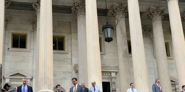 FILE: July 29, 2015: House members leave Capitol Hill for August recess, in Washington, D.C.