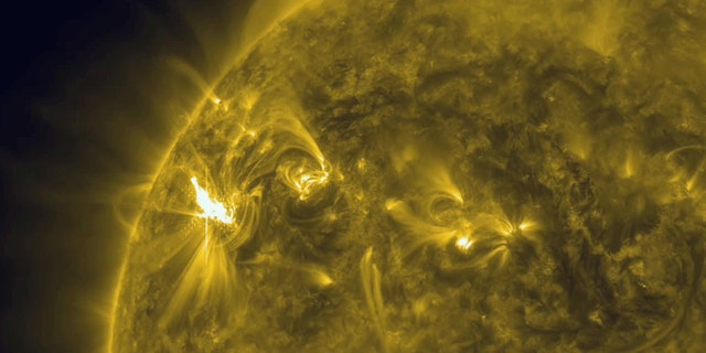 "Magnetic storms on the surface of the Sun can cause what is known as ""solar flares."""