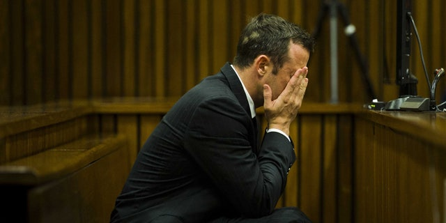 Oscar Pistorius at court in Pretoria, South Africa, Thursday, March 13, 2014.