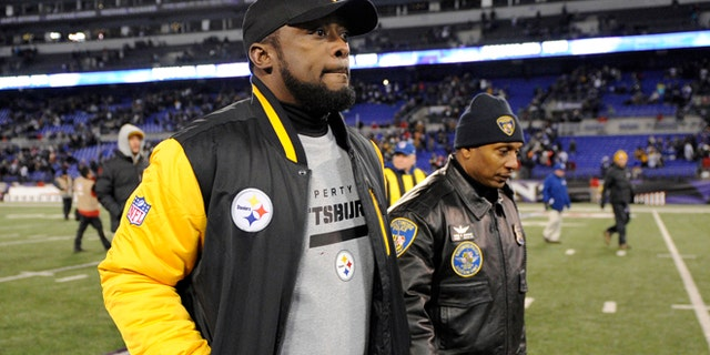 Nov. 28: Pittsburgh Steelers coach Mike Tomlin walks off the field after an NFL football game against the Baltimore Ravens.