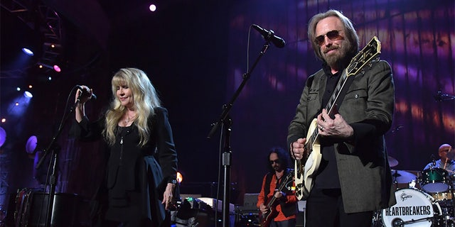 Stevie Nicks with Tom Petty in 2017.