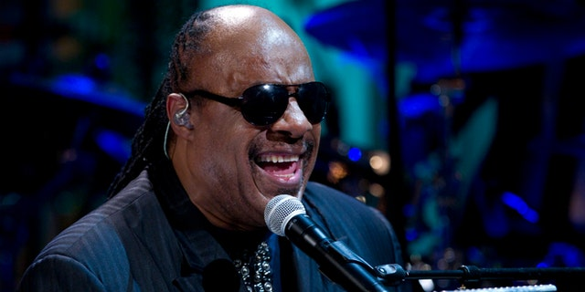 """May 9, 2012: In this file photo, Stevie Wonder performs during the """"In Performance at the White House"""" in the East Room of the White House in Washington, honoring songwriters Burt Bacharach and Hal David, recipients of the 2012 Library of Congress Gershwin Prize for Popular Song."""
