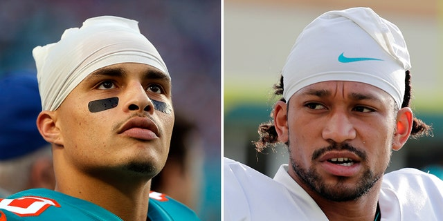 Wide receivers Kenny Stills and Albert Wilson, both of the Miami Dolphins, kneeled during The Star-Spangled Banner, ahead of their game against the Tampa Bay Buccaneers on Thursday night.
