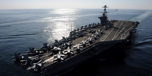 Military officials have said that U.S. and allies train to be able to insure that freedom of navigation continues in the Strait of Hormuz.