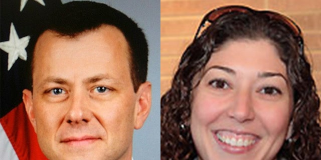Former FBI Deputy Assistant Director Peter Strzok (R) and Lisa Page (L), Special Counsel to the Deputy Director.