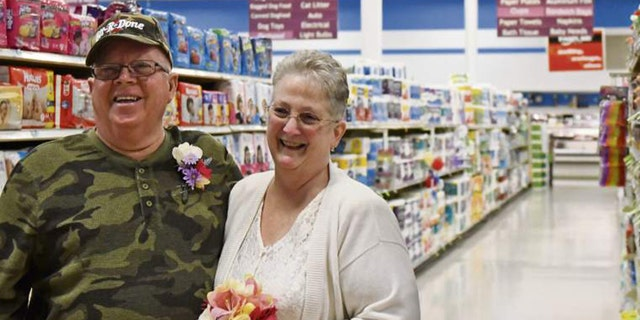 The couple chose April 1 as their wedding date because it's close to both of their birthdays.