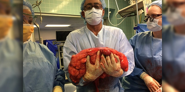 """""""It's one thing to see the picture. It's another thing to actually have it in your hands,"""" said Daly's surgeon, Dr. Julio Teixeira."""