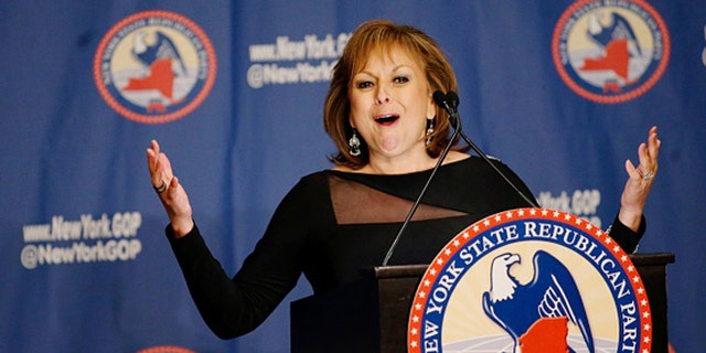 NEW YORK, NY - APRIL 14: New Mexico Gov. Susana Martinez speaks during the 2016 annual New York State Republican Gala on April 14, 2016 in New York City. Donald Trump, Senator Ted Cruz of Texas and Gov. John R. Kasich of Ohio take part in a fund-raiser for the state Republican Party, being the first time they are seen together since they decided to abandon the so-called loyalty pledge they signed last year to support whoever becomes the party nominee. (Photo by Eduardo Munoz Alvarez/Getty Images)