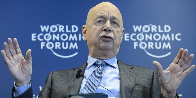 January 15, 2014: German Klaus Schwab, founder and president of the World Economic Forum, gestures during a press conference, in Cologny near Geneva, Switzerland. (AP)