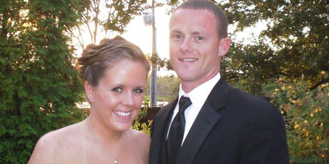 Bell in July 2010, now 24, with her boyfriend Robert Duck, 29.