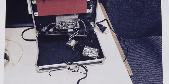 This photo provided by the Irving Police Department shows the homemade clock that Ahmed Mohamed brought to school.