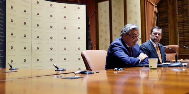UT System Chancellor Francisco Cigarroa during a news conference Feb. 10, 2014, in Austin, Texas.