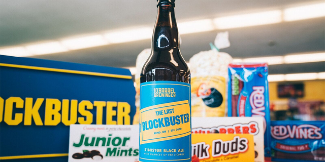 """An Oregon brewery has created """"The Last Blockbuster"""" beer to celebrate the single remaining location of the video-rental chain."""