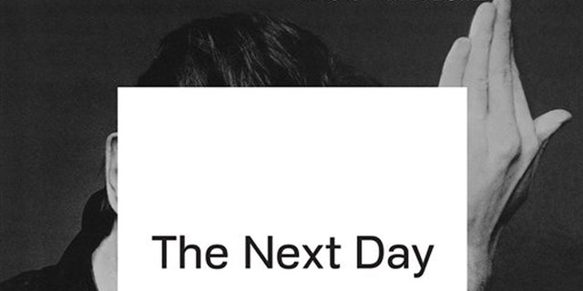 """This CD cover image released by Columbia Records shows """"The Next Day,"""" by David Bowie."""