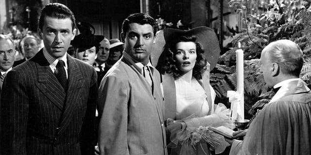 """James Stewart (left) is still celebrated for his role in """"The Philadelphia Story."""""""