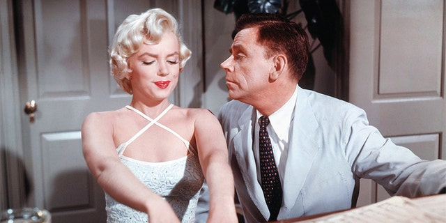 """Marilyn Monroe filming a scene of """"The Seven Year Itch."""""""