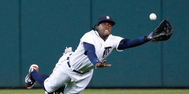 Detroit Tigers center fielder Cameron Maybin on Sept. 13, 2016.