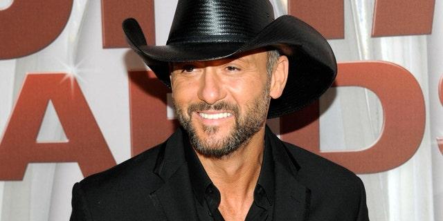 Country music singer Tim McGraw.