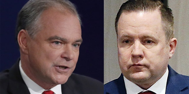 Democratic Sen. Tim Kaine (left) and Republican Corey Stewart (right). A Senate race between Hillary Clinton's running mate and a candidate characterized as the Donald Trump of Virginia could likely garner massive national attention.