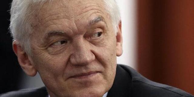 May 24, 2014: Businessman Gennady Timchenko attends a session of the St. Petersburg International Economic Forum. (Reuters/Sergei Karpukhin)