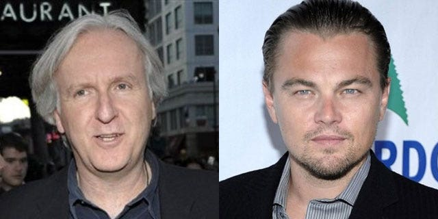 """It seems things between """"Titanic"""" director James Cameron (l) and star Leonardo DiCaprio weren't smooth sails after all."""