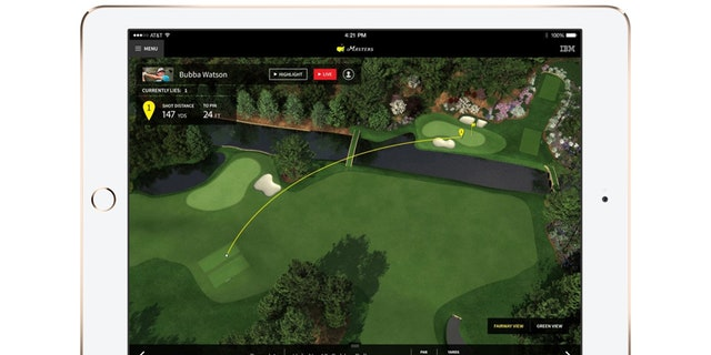 Track app fairway view.