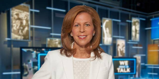 """In this photo provided by CBS Sports, Amy Trask poses for a photo Sept. 30, 2014, prior to taping the show, """"We Need to Talk,"""" at the CBS Broadcast Center in New York. The late Oakland Raiders owner Al Davis still comes to Trask's mind almost daily. Trask will see something or read something and wish she could share it with Davis. Along with her husband of nearly 29 years, Davis had one of the most profound influences on her life and career. Now 18 months removed from her almost three-decade stint with the franchise, Trask remains a loyal fan of the Raiders team she fell in love with as a college student at California-Berkeley. (AP Photo/CBS Sports Network)"""