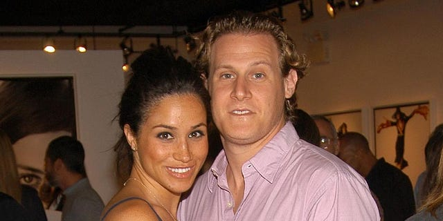 Meghan Markle with now ex-husband Trevor Engelson during happier times.