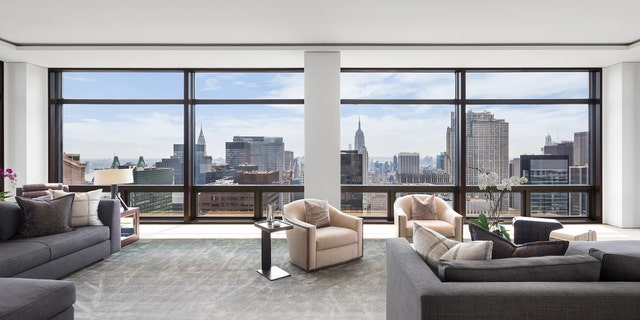 The southern-facing unit is being sold by Oklahoma billionaire Jeff Records.