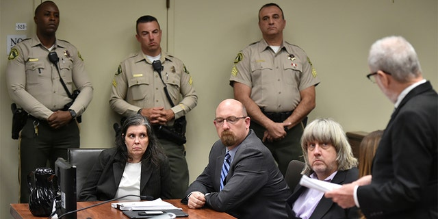 Louise and David Turpin appeared in court for their arraignment Thursday in Riverside, California. They both entered not guilty pleas on all counts.
